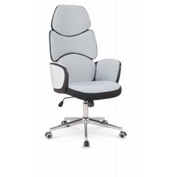 BARON fotel gabinetowy czarny / biały / jasny popiel