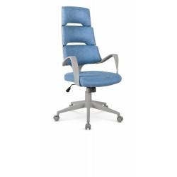 CALYPSO fotel gabinetowy niebieski / popielaty