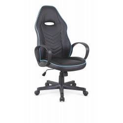 SCOTY fotel gabinetowy czarny / niebieski