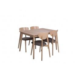 Zestaw stół z krzesłami Fario